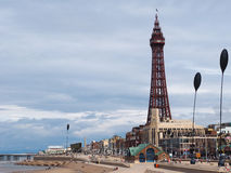 Pleasure beach and Tower in Blackpool Stock Images