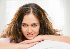 Pleasure in the bed Stock Photos