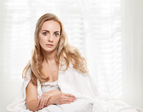 Pleasure in the bed Royalty Free Stock Images