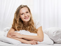 Pleasure in the bed Stock Images