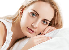 Pleasure in the bed Royalty Free Stock Photos