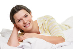 Pleasure in the bed Stock Image