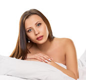 Pleasure in the bed Stock Photography