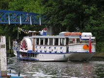 Pleasure Boat. A pleasure boat on River Thames in England Royalty Free Stock Photo
