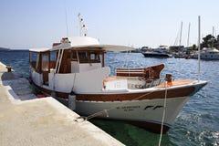 Pleasure boat in the Aegean Sea Stock Image
