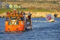 Pleasure boat along the coast of Ayia Napa Stock Photography