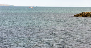 Pleasure boat in the bay of Sunny Beach, Bulgaria Stock Photos