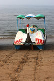 Pleasure boat on beach Stock Photos