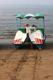 Pleasure boat on beach Stock Photos