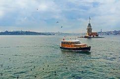 The pleasure boat on Bosphorus Stock Photos