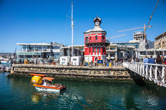 Pleasure boat in Cape Town port Royalty Free Stock Photography