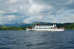 Pleasure boat cruise. A pleasure boat cruise on Lake Windermere England Royalty Free Stock Images