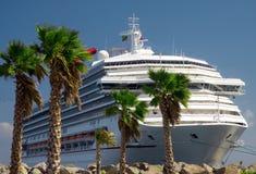 Pleasure boat - cruise ship stock photo