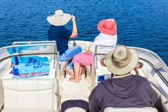 Exploration Nature Boat Cruise Waters Stock Images