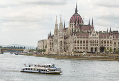 Pleasure boat on the Danube Royalty Free Stock Photo