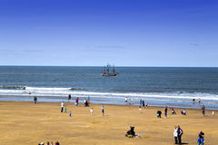 Pleasure boat Galleon at Whitby Royalty Free Stock Images