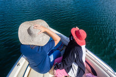 Pleasure Boat Hats Ladies Waters Royalty Free Stock Image