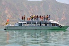 Pleasure boat  in kanbula Royalty Free Stock Photography