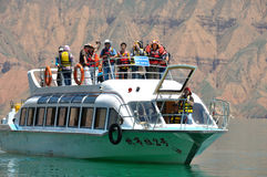 Pleasure boat  in kanbula Royalty Free Stock Image