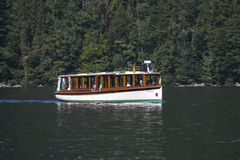 Pleasure boat on the Koenigssee lake close to Berchtesgaden, Royalty Free Stock Image