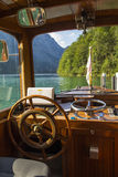 Pleasure boat on the Koenigssee lake close to Berchtesgaden, Ger Stock Image