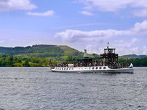 Pleasure boat on Lake Windermere Royalty Free Stock Photography
