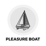 Pleasure Boat Line Icon Royalty Free Stock Images