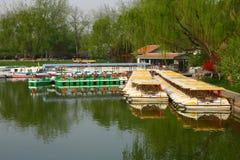Pleasure boat. The pleasure boat in the longtanhu park Stock Images