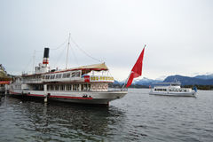 Pleasure boat in Lucerne Stock Photography