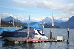 Pleasure boat in Lucerne Royalty Free Stock Image