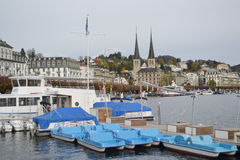 Pleasure boat in Lucerne Royalty Free Stock Photos