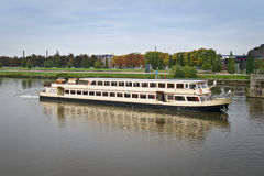 Pleasure boat in Maastricht Stock Photography