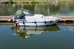 Pleasure boat on Moselle, Germany Stock Images