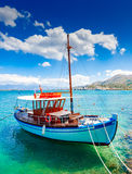 Pleasure boat off the coast of Crete, Greece Stock Image