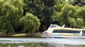 Pleasure boat stock video