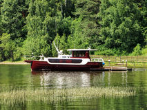 A pleasure boat. The photo was taken at lake Teletskoye Royalty Free Stock Photos