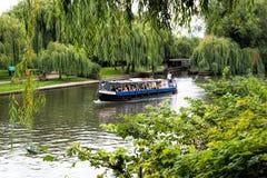 Pleasure boat. A pleasue boat at Stratford upon Avon, England, UK Royalty Free Stock Photos