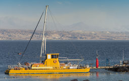 Pleasure boat at the Red Sea, Eilat. Israel Stock Photography