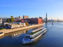 Pleasure boat River Palace 2 on the Moscow River. Russia Stock Images