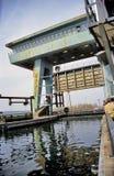 Pleasure Boat Sails Locks Stock Photography