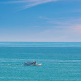 Pleasure Boat in the Sea Stock Photo