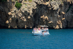 Pleasure boat in the sea near Antalya Stock Image