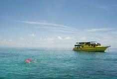 Pleasure-boat on the sea Royalty Free Stock Image