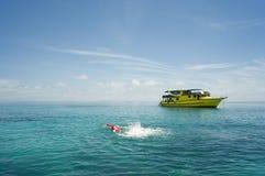 Pleasure-boat on the sea Stock Image