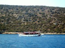 Pleasure boat in the sea Royalty Free Stock Photo