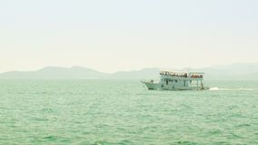 Pleasure boat in the sea Royalty Free Stock Image