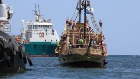 Pleasure boat in Sousse, Tunisia stock video