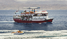 Pleasure boat and sport facilities at the Red Sea Stock Images