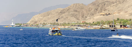 Pleasure boat and sport facilities at the Red Sea Stock Image