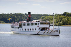 Pleasure boat, Stockholm, Sweden royalty free stock photography